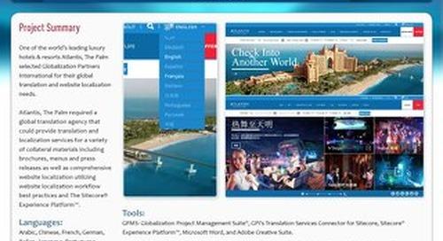 Atlantis, The Palm: Sitecore Website Localization Case Study
