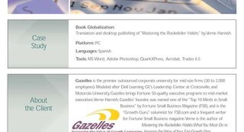 Gazelles: Document Localization and Desktop Publishing Case Study