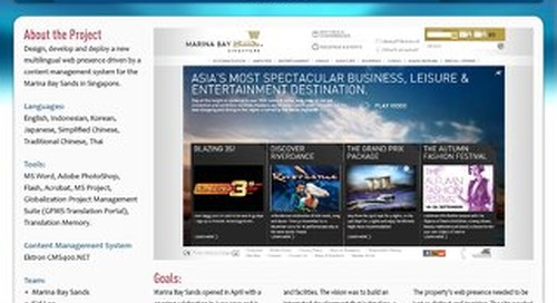 Marina Bay Sands: Website Design, Development and Deployment Case Study