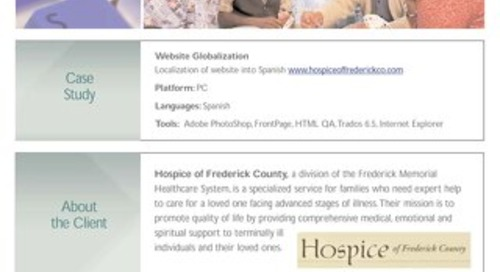 Hospice of Frederick County: Website Localization Case Study
