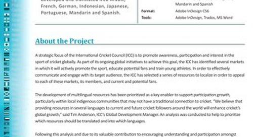 International Cricket Council: Glossary Development and Translation Case Study