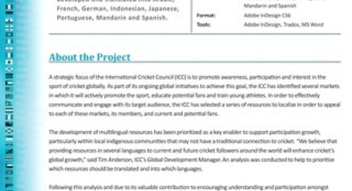 International Cricket Council: Glossary Development and Translation Case Study