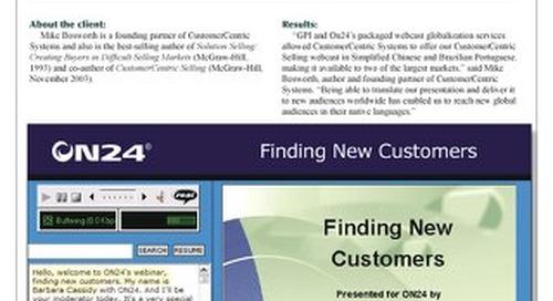 ON24: Webcast Localization Case Study
