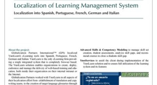 YnotLearn: eLearning Localization Case Study