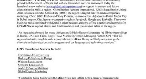 GPI Launches UAE Website