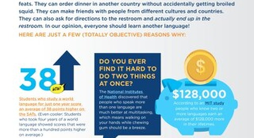 5 Reasons Everyone Should Know Two Languages