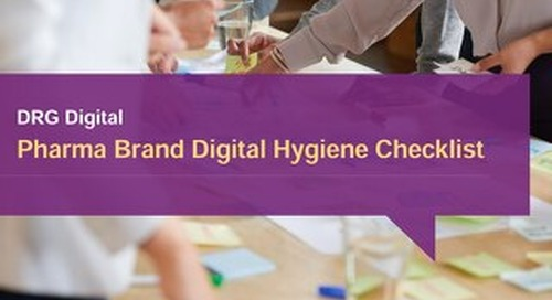 Pharma Brand Digital Hygiene Checklist