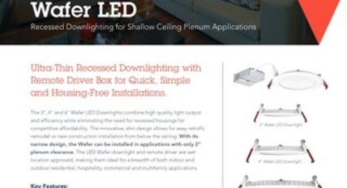 Housing-Free Wafer LED Downlight Sell Sheet
