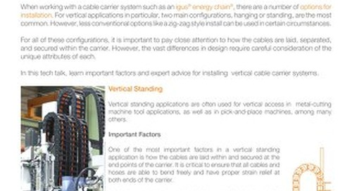 3 Methods for Installing a Cable Carrier Vertically