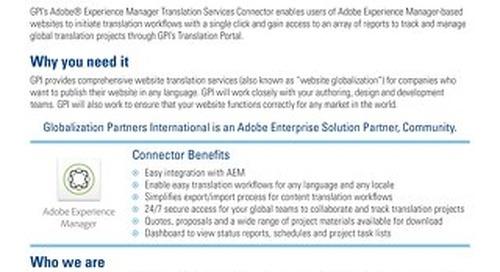 GPI AEM Connector Brief