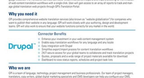 GPI Drupal Connector Brief
