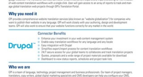 GPI Drupal Connector Brief