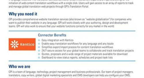 GPI Kentico Connector Brief