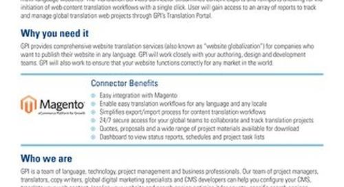 GPI Magento Connector Brief