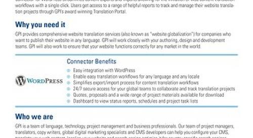 GPI WordPress Connector Brief