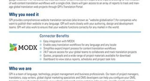 GPI MODX Connector Brief