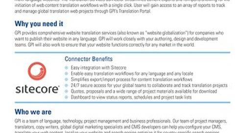 GPI Sitecore Connector Brief