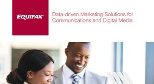 Data-driven Marketing Communications Brochure