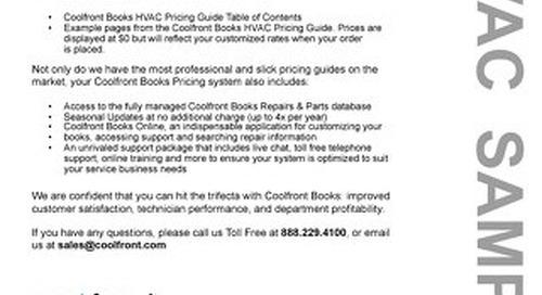 Coolfront Books HVAC Sample