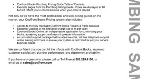 Coolfront Books Plumbing Sample