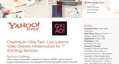 Creating Ultra-Fast Video Delivery Services