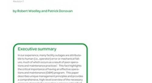 WP 196 - Essential Elements of Data Center Facility Operations