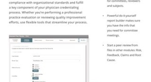 Manage peer review processes in one convenient, secure system