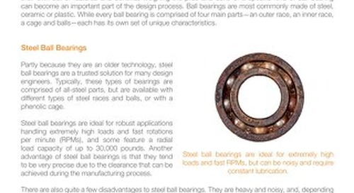 Guide to Ball Bearing Materials