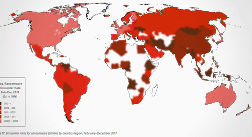 Geographical Region With the Most Ransomware Encounters in 2017 Was Asia