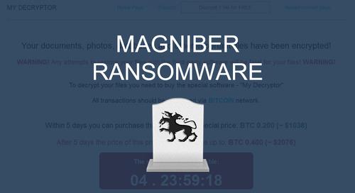 Goodbye Cerber? Hello Magniber Ransomware!