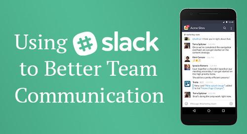 Using Slack to Better Team Communication