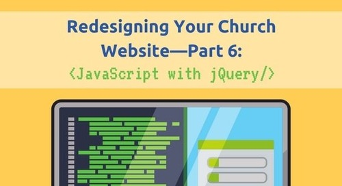 Redesigning Your Church Website—Part 6: JavaScript with jQuery