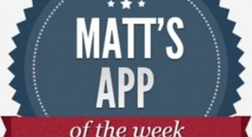 Matt's App of the Week: Dragon Dictation