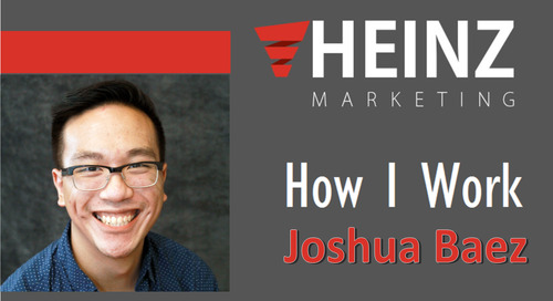 """How I Work"":  Joshua Baez, Marketing Coordinator for Heinz Marketing @joshthebasil #HowIWork"