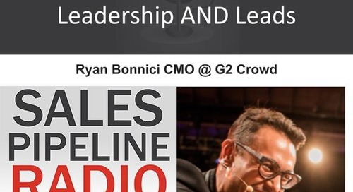 Sales Pipeline Radio, Episode 101: Q&A with Ryan Bonnici