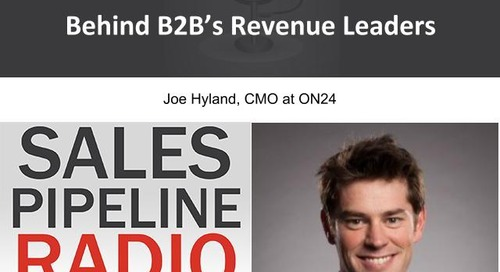 Sales Pipeline Radio, Episode 105: Q&A with Joe Hyland @mojoehyland