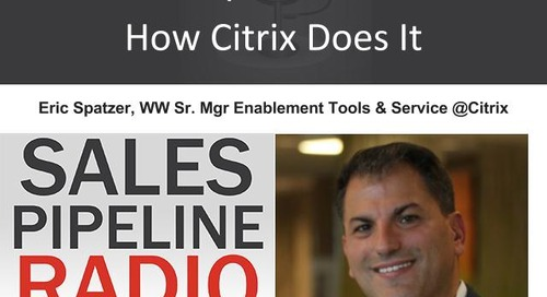 Sales Pipeline Radio, Episode 102: Q&A with Eric Spatzer