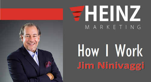 """How I Work"":  Jim Ninivaggi – Chief Readiness Officer, Brainshark, Inc. @JNinivaggi #HowIWork"