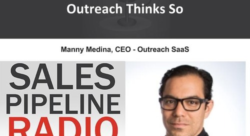 Sales Pipeline Radio, Episode 107: Q&A with Manny Medina @medinism