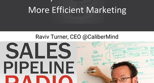 Sales Pipeline Radio, Episode 112: Q&A with Raviv Turner, CEO at CaliberMind @ravivturner