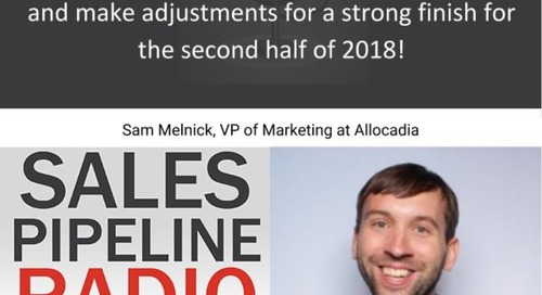 Sales Pipeline Radio, Episode 115: Q&A with Sam Melnick @SamMelnick