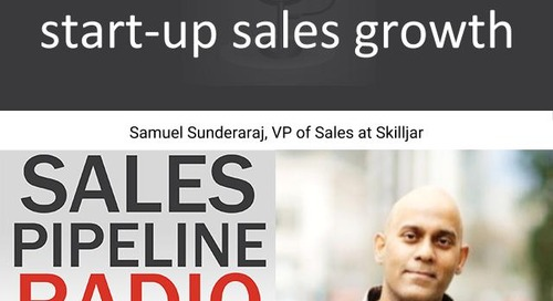 Sales Pipeline Radio, Episode 116: Q&A with Samuel Sunderaraj @V_samuelSun