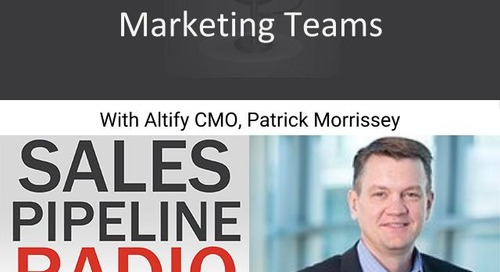 Sales Pipeline Radio, Episode 118: Q&A with Patrick Morrissey @PatMorrissey