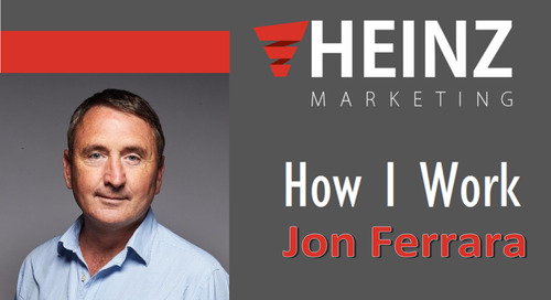 """How I Work"":  Jon Ferrara, CEO of Nimble @jon_ferrara #HowIWork"