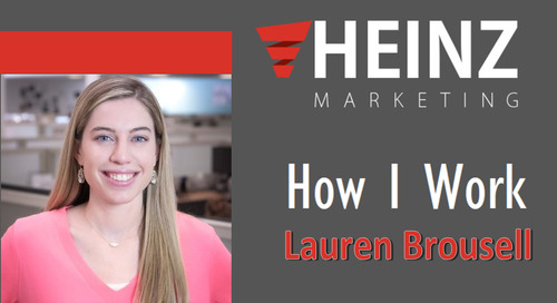 """How I Work"":  Lauren  Brousell, Senior Content & Programs Manager for Brainshark @LBoutwell88 #HowIWork"