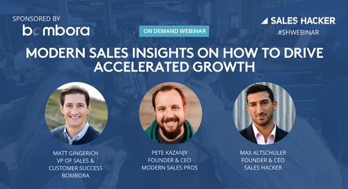Modern Sales Insights on How to Drive Accelerated Growth