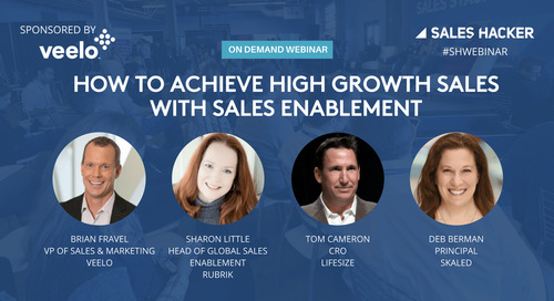 How to Achieve High Growth Sales with Sales Enablement