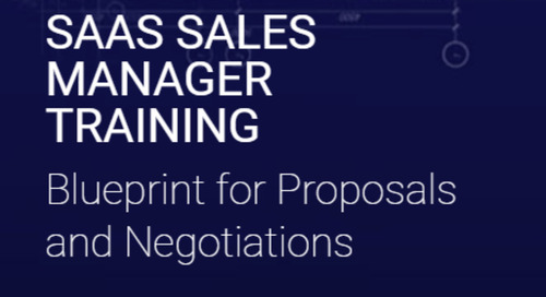 SaaS Sales Manager Training Blueprint For Proposals & Negotiations