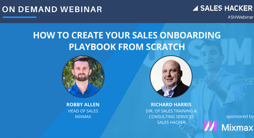 How To Create Your Sales Onboarding Playbook From Scratch