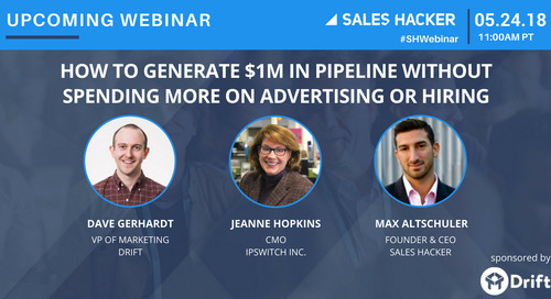 How To Generate $1M in Pipeline Without Spending More On Advertising or Hiring